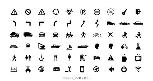 Cobrança, de, pictograma, ícones