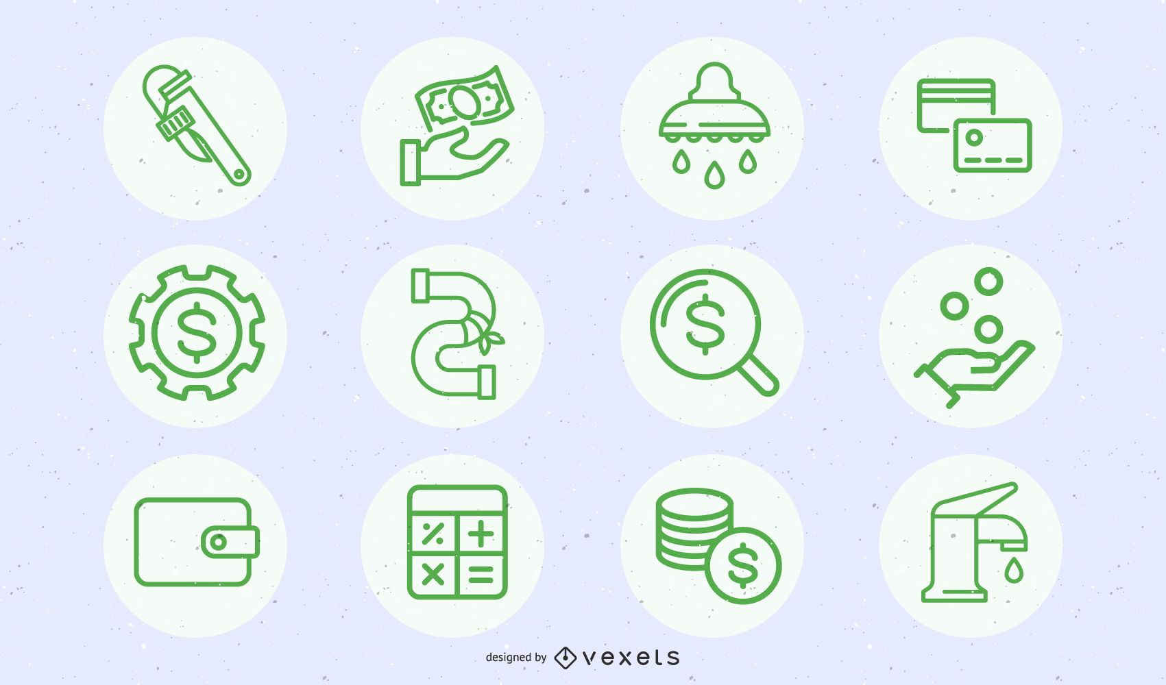 Green Business And Construction Icon Pack