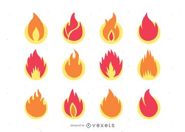 ícone de chama 1 vetor
