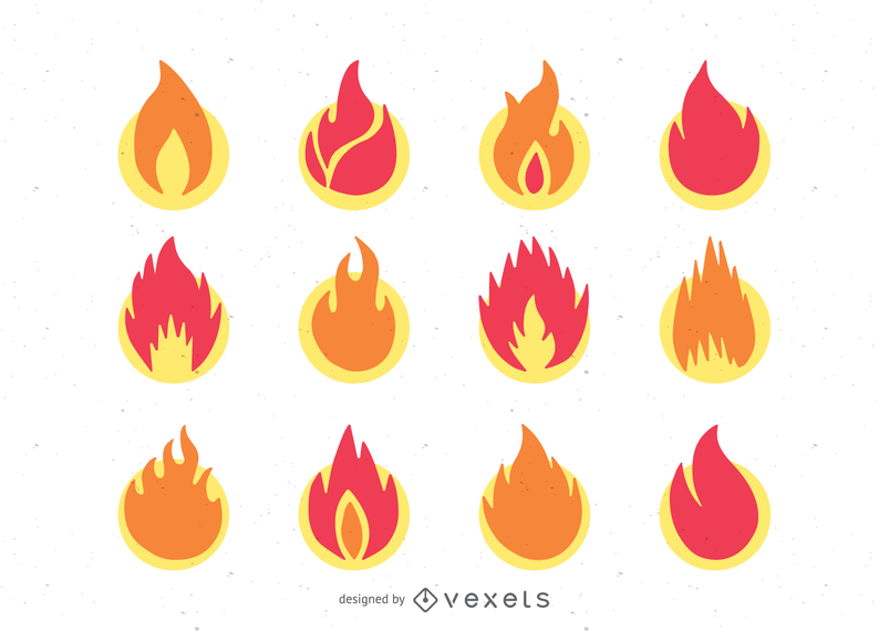 ícone de chama 1 vector
