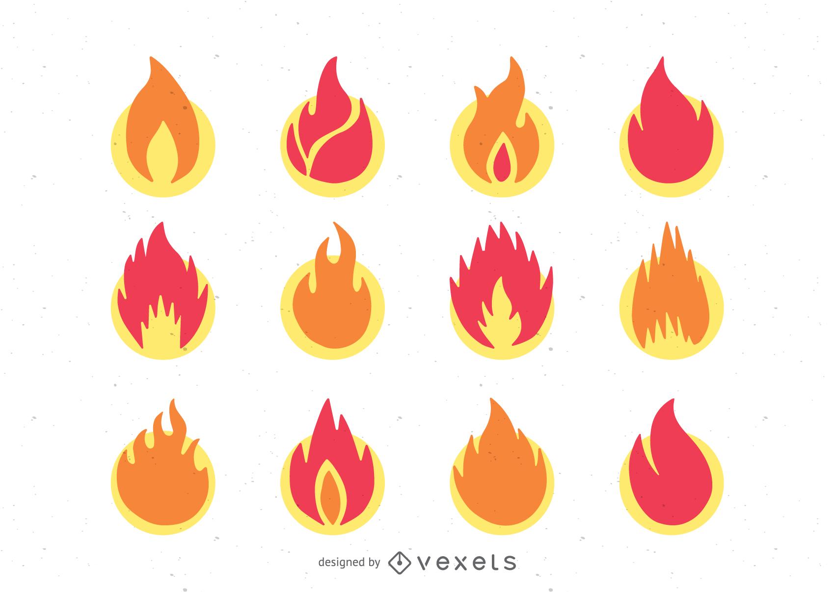 icono de llama 1 vector