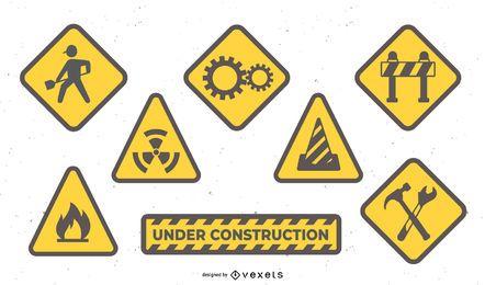 iconos de construcción y construcción