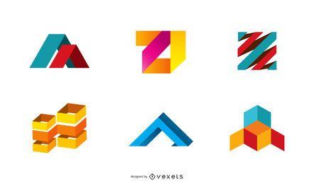 Conjunto de ícones coloridos em 3D