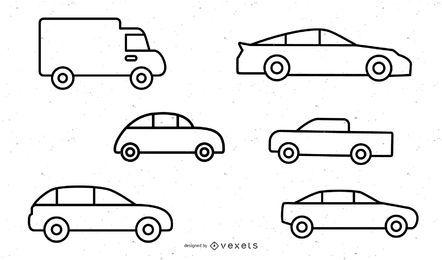 Vehículo Icono 1 Vector 2