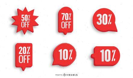Verkauf Aufkleber Symbol Vektor