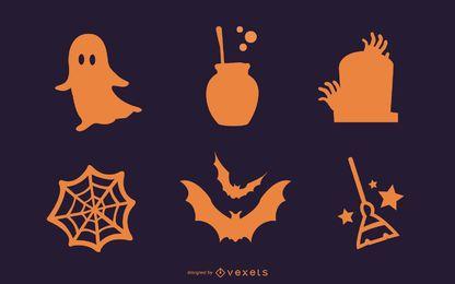 Ícones simples de Halloween