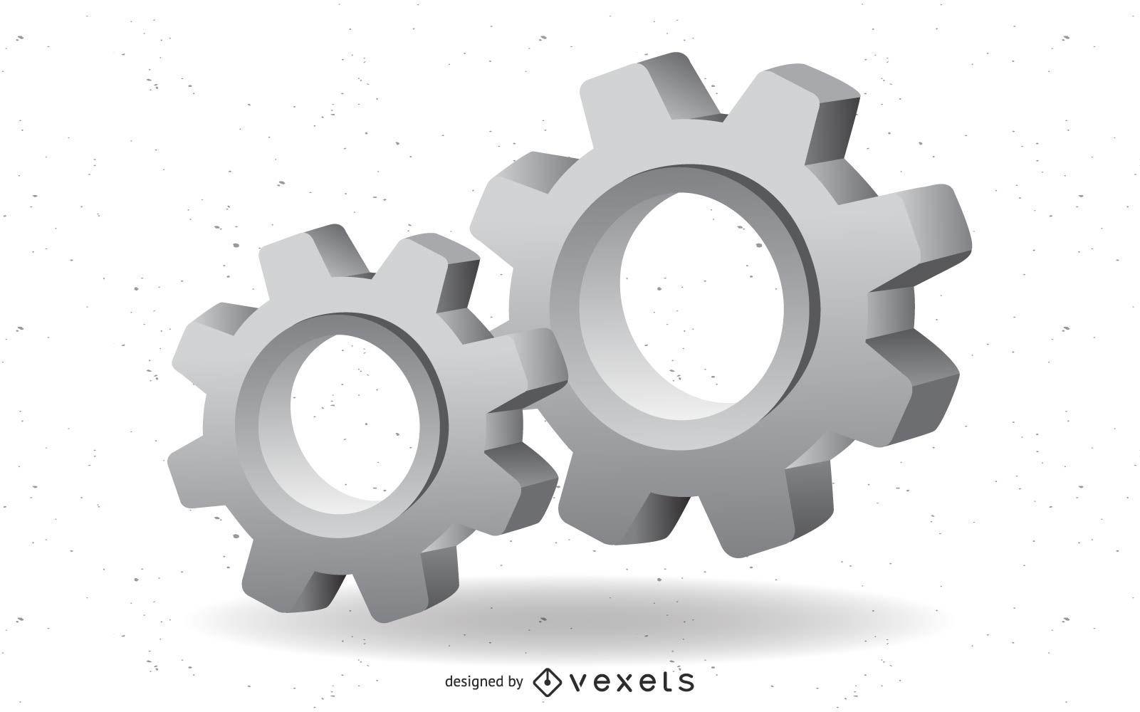 3d gear vector mechanical