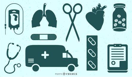 vector icono médico simple