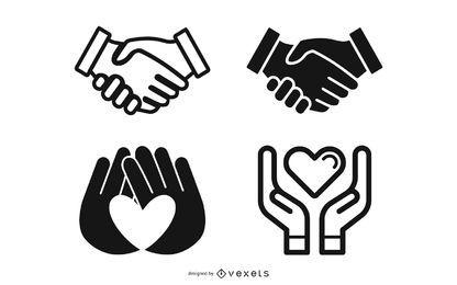 Vector icono de mano