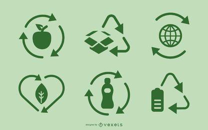 Reciclar conjunto de iconos