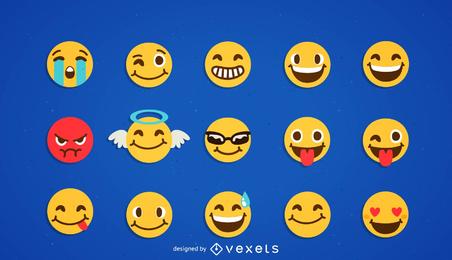 Kühle Smilies-Vektor-Ikone