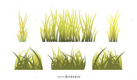 Vector libre hierba