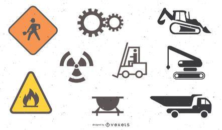 Baustellen-Themensymbol