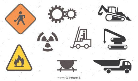 icono de tema de sitio de construcción