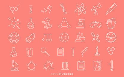 Ícones de pesquisa científica