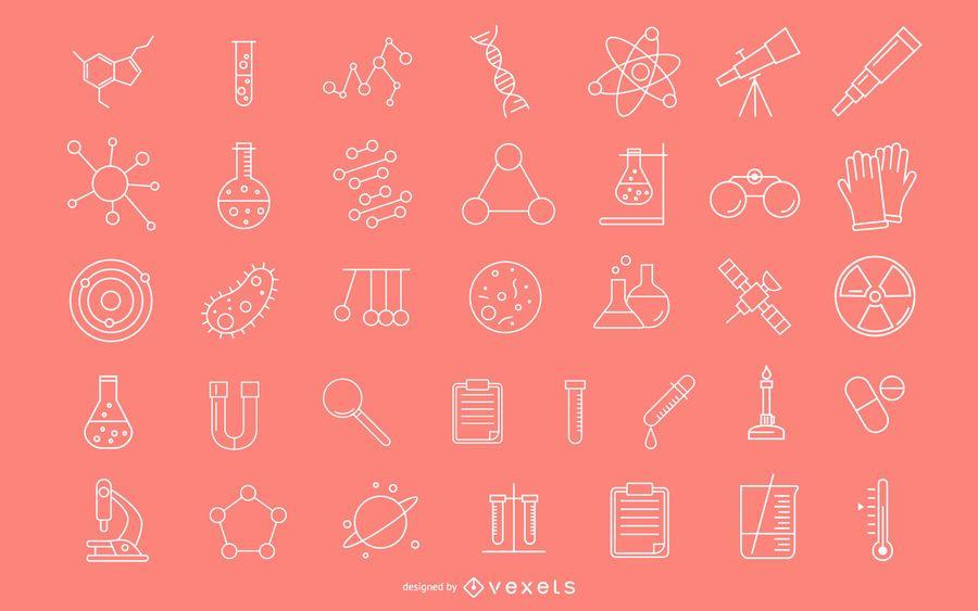 Scientific Stroke Icons Pack