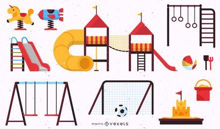 Netter Karikatur-Ikonen-Spielplatz 3