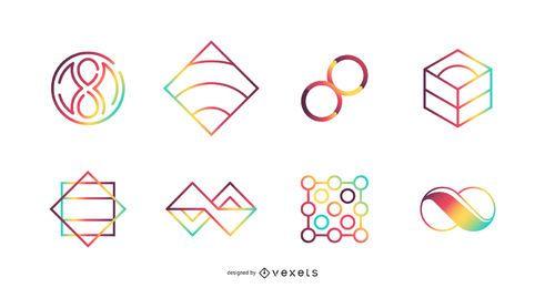 Conjunto de iconos de Vector colorido