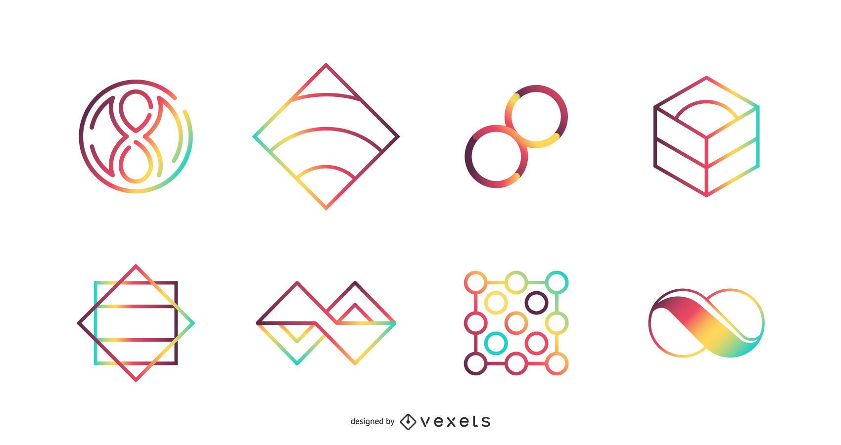 Colorful Vector Icon Set