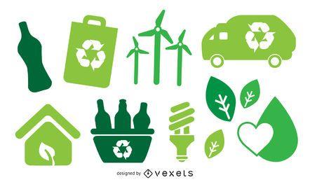 Icono de Vector verde Bio