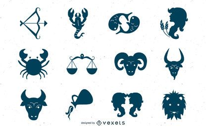 Creative zodiac icons