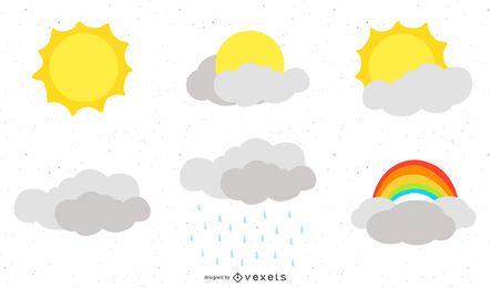 Wettersymbole Vektor 2