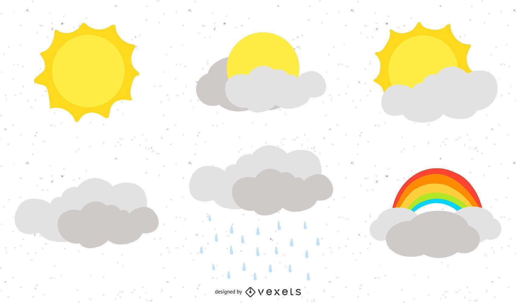Iconos del tiempo Vector 2