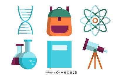 Iconos de material de vectores de enseñanza 2