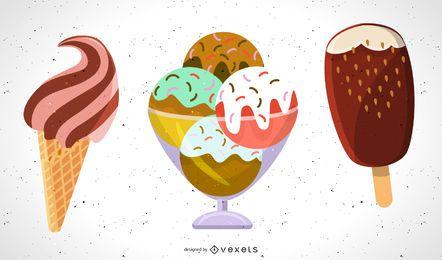 Vector de helado