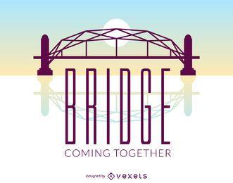 Cartel puente plano