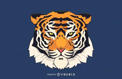 Ilustração em vetor cabeça de tigre