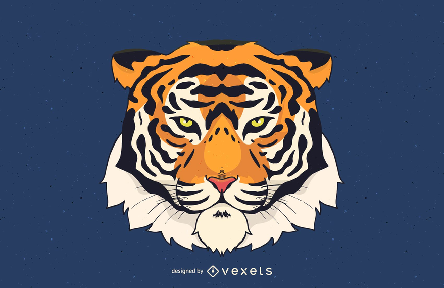 Tiger Head Vector Illustration