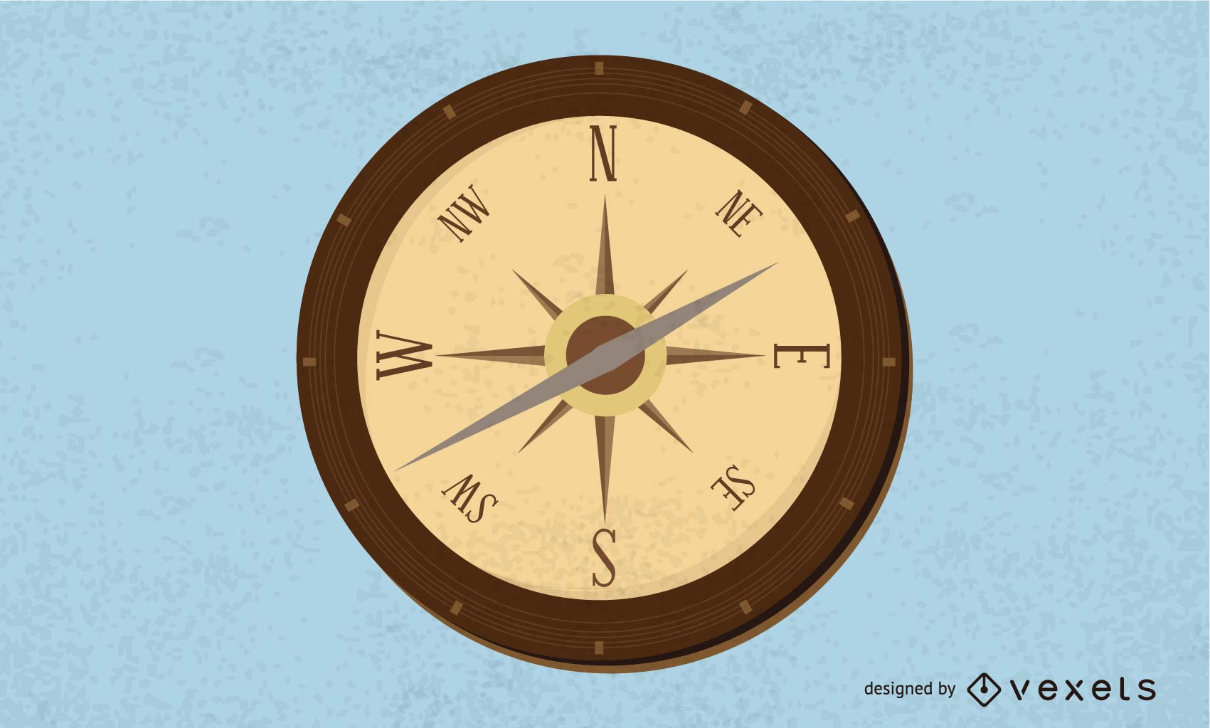Isolated compass illustration