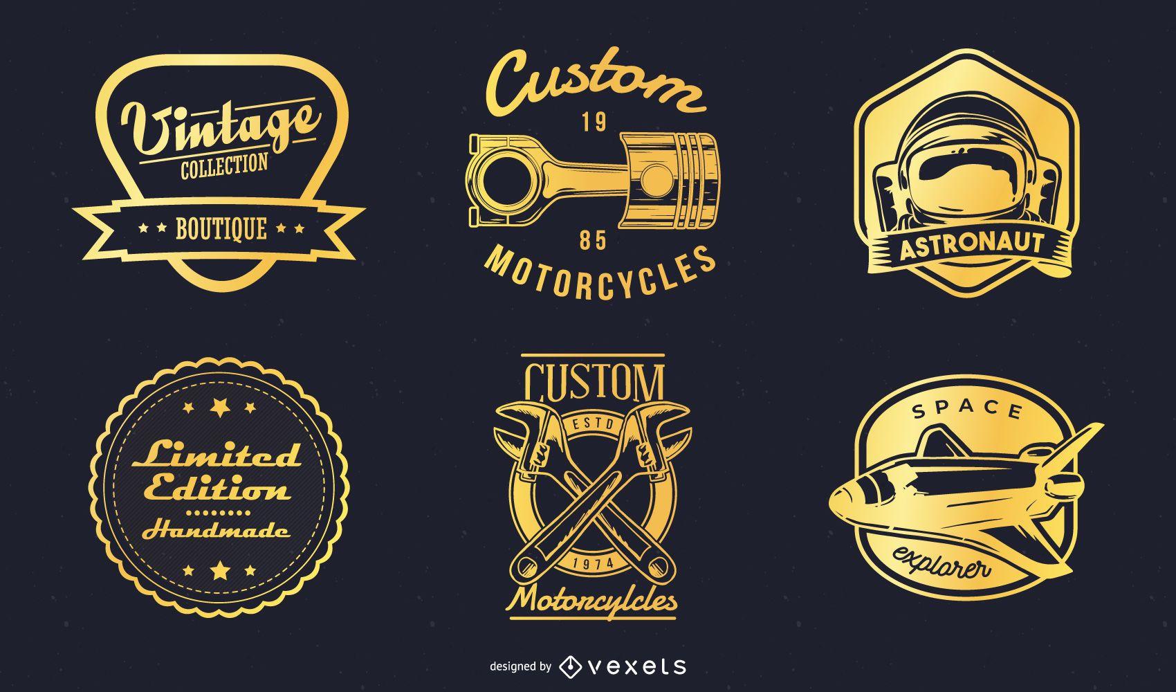 Classic Gold Imprint 02 Vector