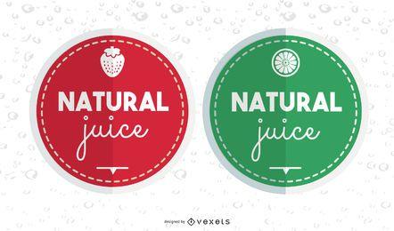 Etiquetas de jugo natural