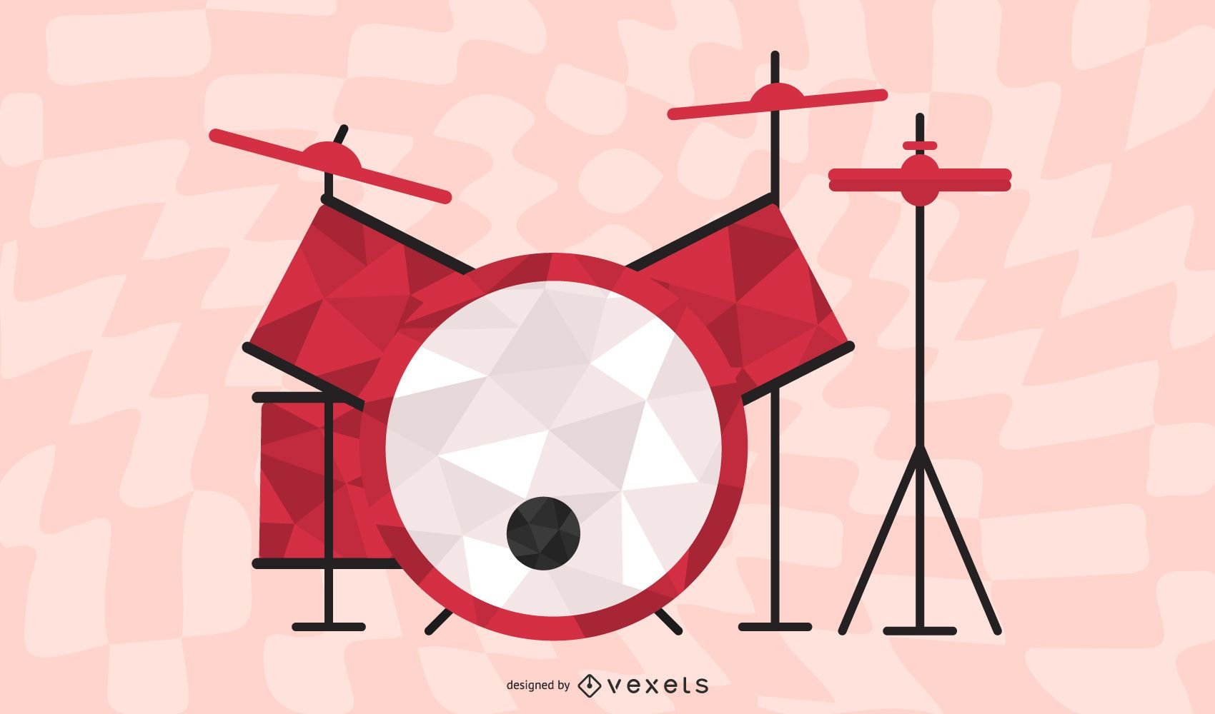 Vector de tambor fino 02