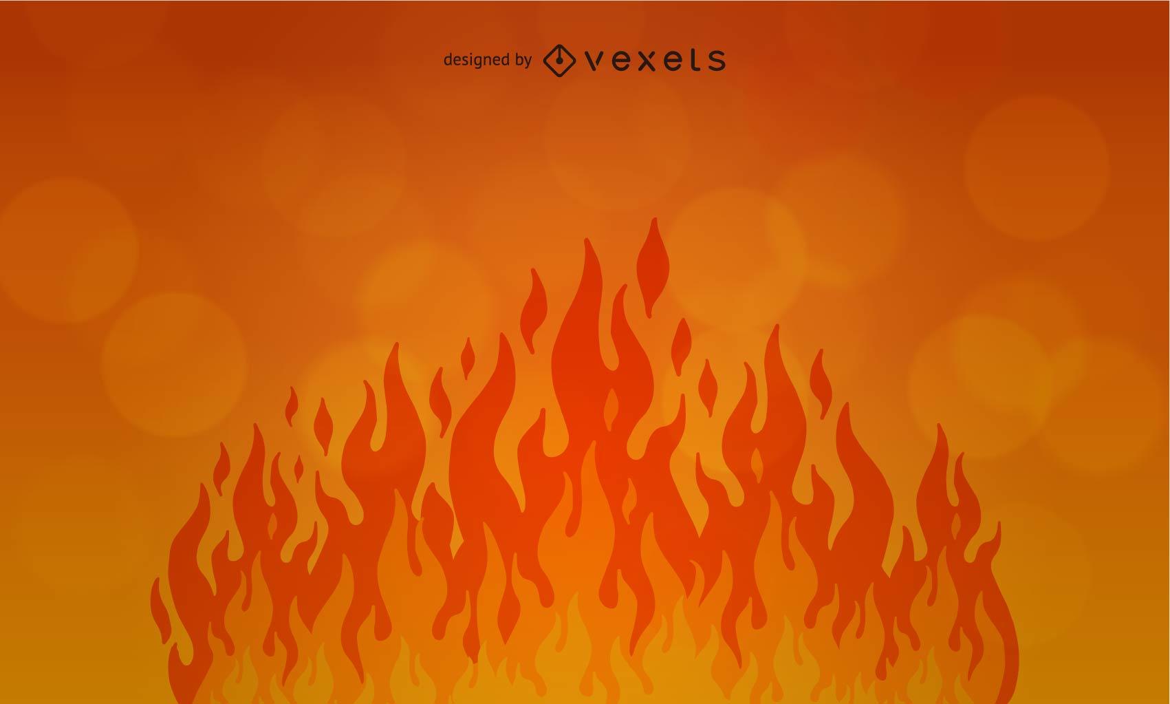 Diseño de fondo de fuego de llama