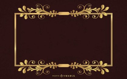 Elegante estilo europeo Vector de marco dorado