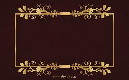 Vector de marco dorado elegante estilo europeo