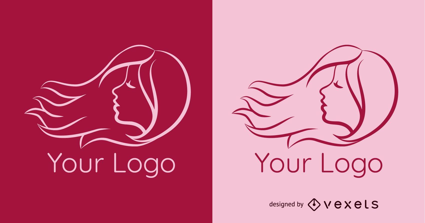 Vector de plantilla de logotipo de peluquería