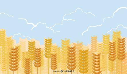 Vector de trigo amarillo 02