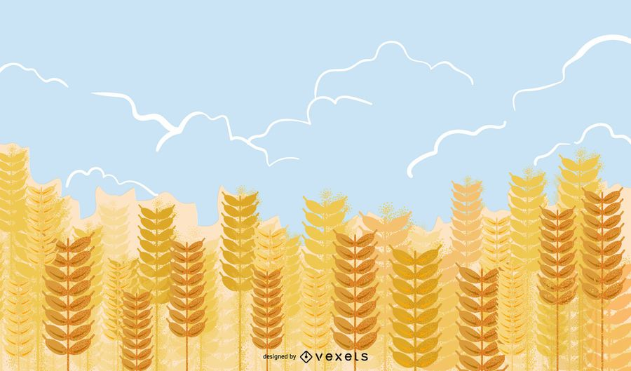 Yellow Wheat 02 Vector