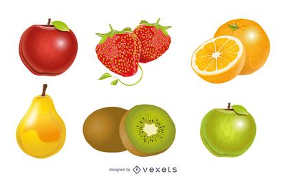 Vector De Fruta De Cristal 1
