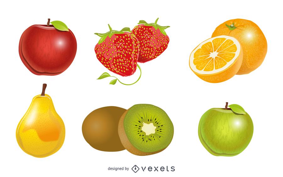 Crystal Fruit 1 Vector
