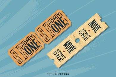 European And American Movie Ticket Clip Art