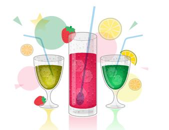 Bebidas coloridas de vetor