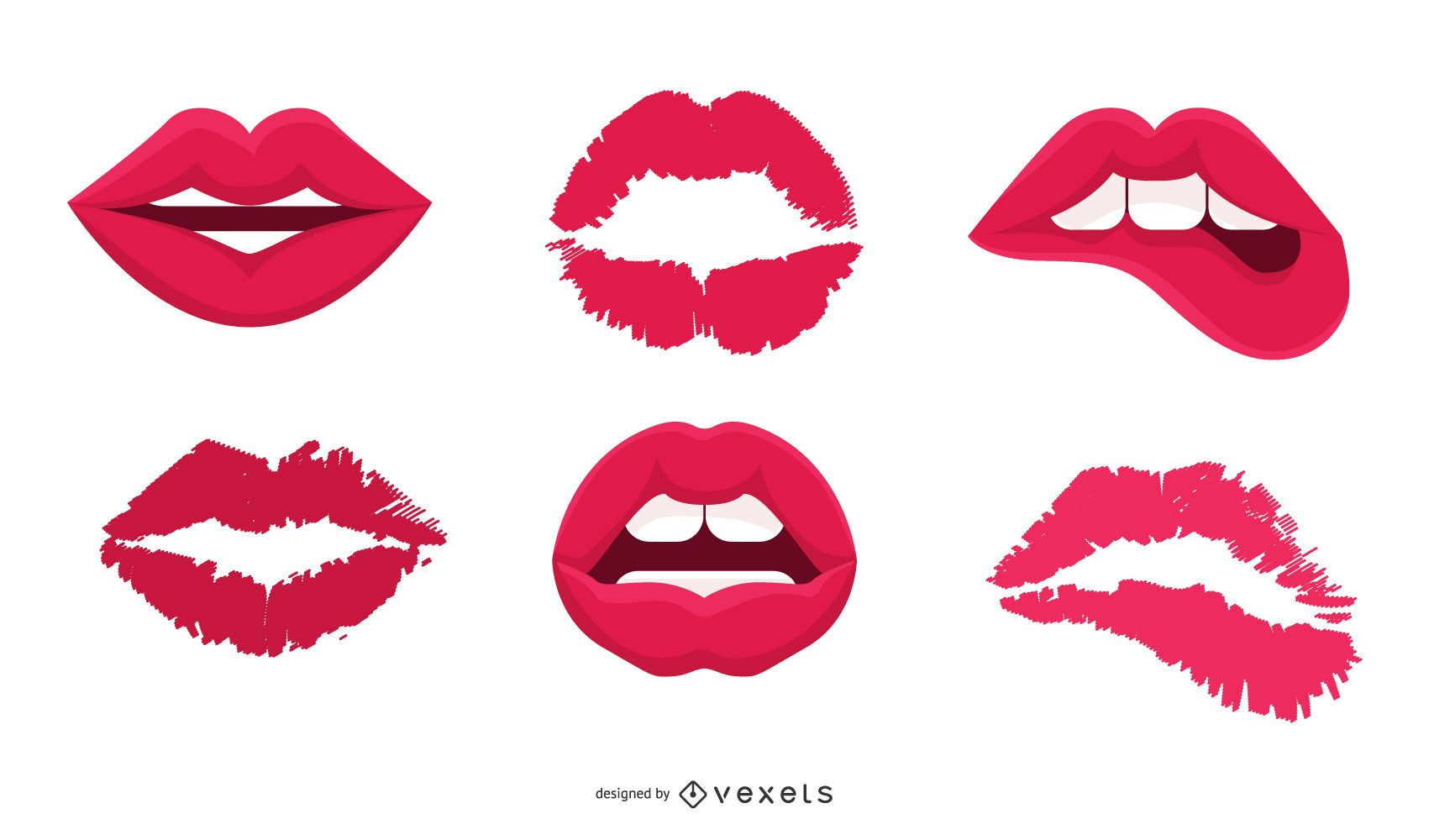 Vector labios beso
