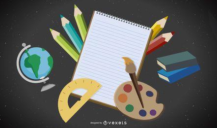Material Escolar 04 Vector