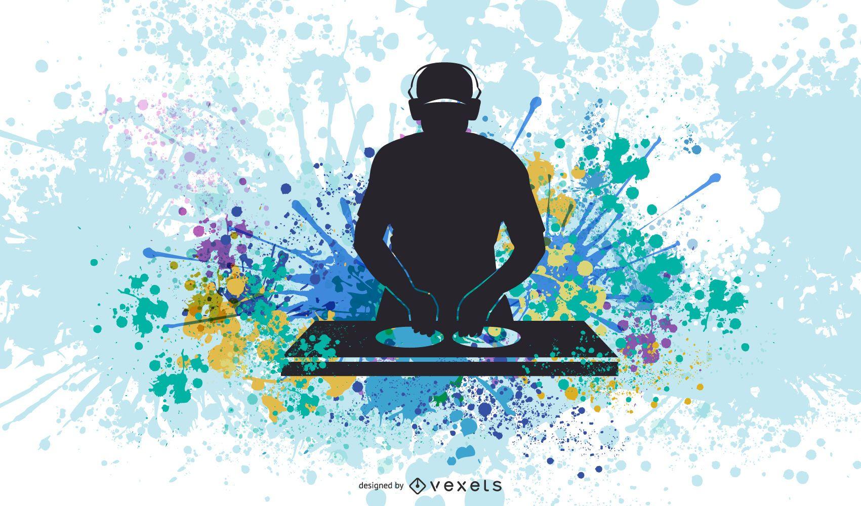 Equipo De Dj Y Vector De Música Dj