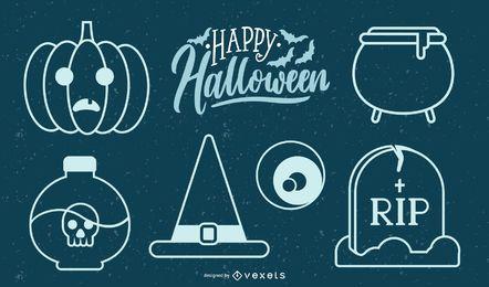 Serie de halloween vector